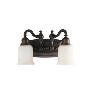 Canterbury 2-light Oil Rubbed Bronze Vanity Fixture