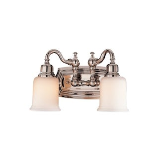 Canterbury 2-light Polished Nickel Vanity Fixture
