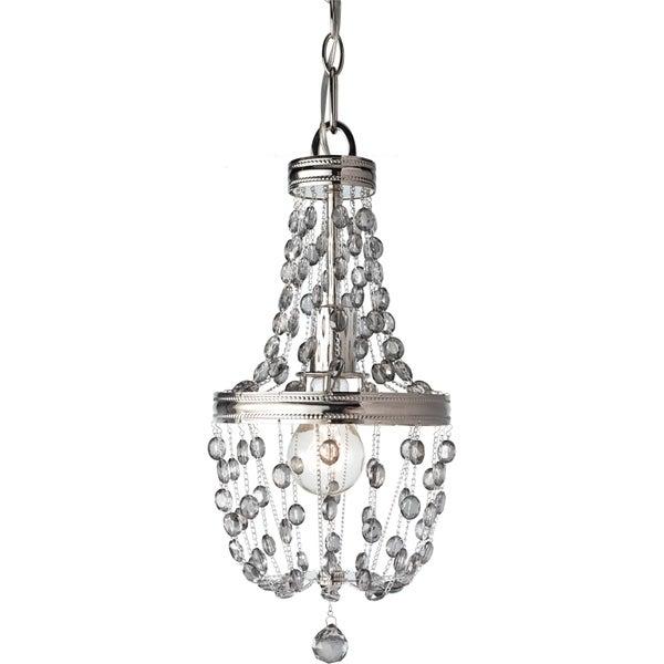 Polished Nickel 1-light Mini Pendant