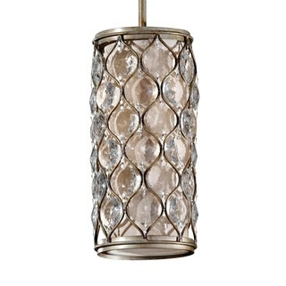 Mini Burnished Silver 1-light Pendant