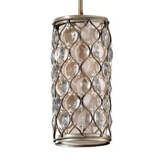 Mini Burnished Silver 1-light Pendant