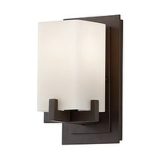 Feiss Riva 1 - Light Vanity Fixture, Oil Rubbed Bronze