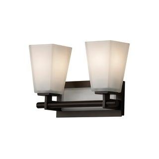 Feiss Clayton 2 - Light Vanity Fixture, Oil Rubbed Bronze