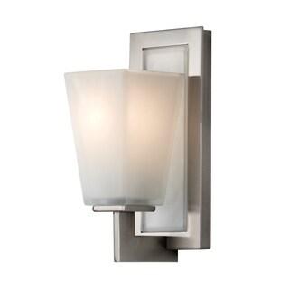 Clayton Brushed Steel 1-light Vanity Fixture