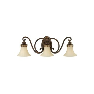 Feiss Drawing Room 3 - Light Vanity Fixture, Walnut