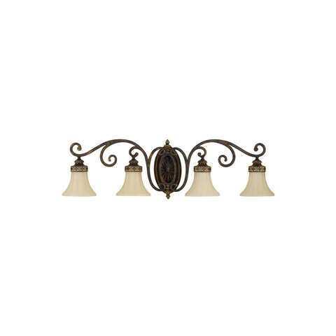 Feiss Drawing Room 4 - Light Vanity Fixture, Walnut