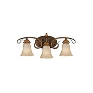Sonoma Valley Aged Tortoise Shell 3-light Vanity Fixture