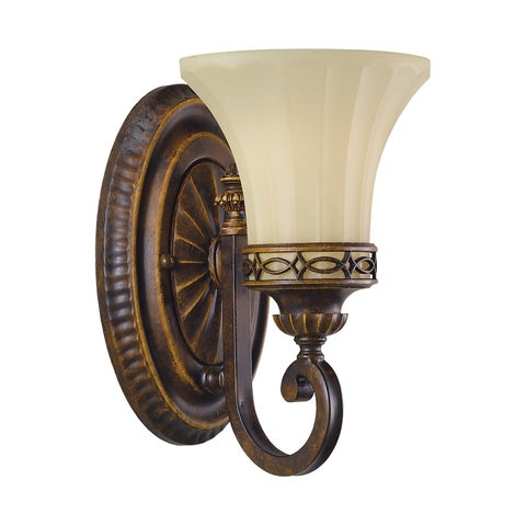 Feiss Drawing Room 1 - Light Vanity Fixture, Walnut