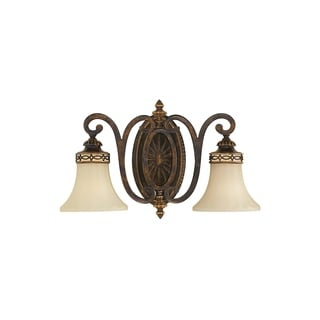 Drawing Room Walnut 2-light Wall Sconce