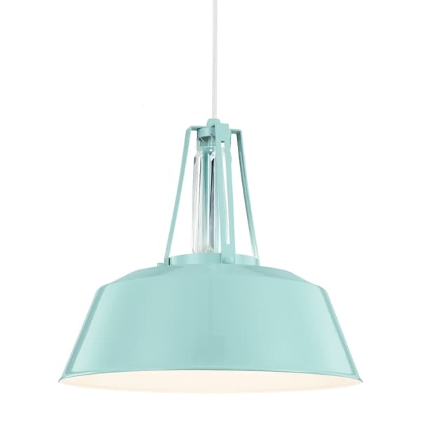 high gloss blue 1 light pendant free shipping today 16849732. Black Bedroom Furniture Sets. Home Design Ideas