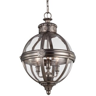 Adams Antique Nickel 3-light Pendant