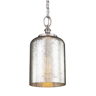 Hounslow Brushed Steel 1-light Mini Pendant