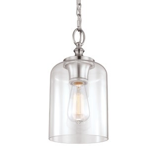 Hounslow Mini Brushed Steel 1-light Pendant