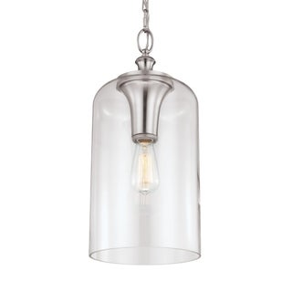 Hounslow Brushed Steel 1-light Pendant