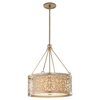 Shade Silver Leaf Pata 4-light Pendant