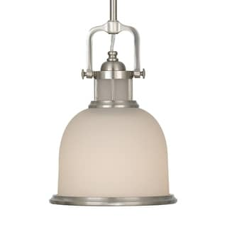 Brushed Steel 1-light Pendant