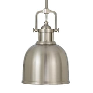 Mini Brushed Steel 1-light Pendant Light Fixture