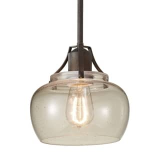 Rustic pendant lighting for less overstock rustic iron 1 light mini pendant mozeypictures Choice Image
