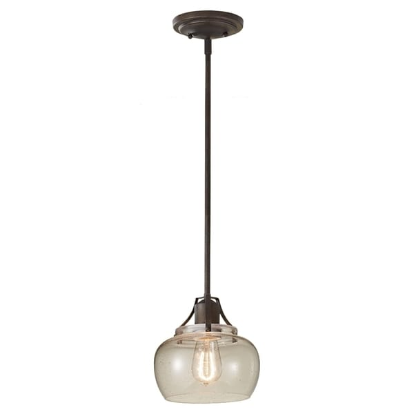 Shop Rustic Iron 1-light Mini Pendant