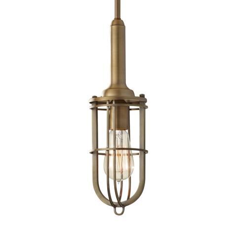 Mini Dark Antique Brass 1-light Pendant