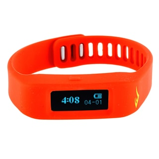 Everlast TR1 Red Wireless Sleep/ Fitness Activity Tracker Watch with LED Display