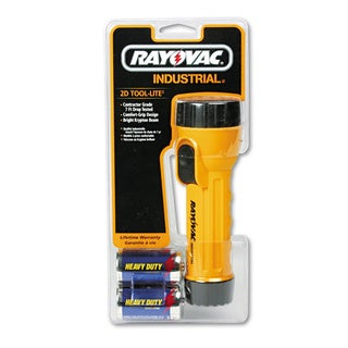 Rayovac Industrial Tough Flashlight Yellow/ Black (Two D batteries included)