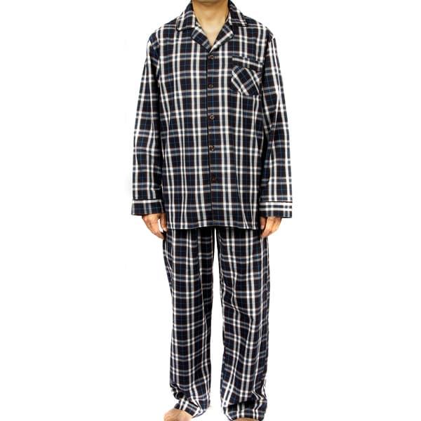 shop leisureland men 39 s blue 100 percent cotton poplin plaid pajama set free shipping on orders. Black Bedroom Furniture Sets. Home Design Ideas