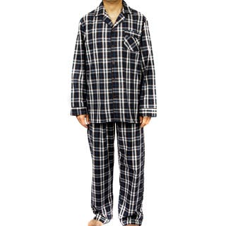 Leisureland Men's 100-percent Cotton Poplin Plaid Pajama Set|https://ak1.ostkcdn.com/images/products/9668964/P16850294.jpg?impolicy=medium
