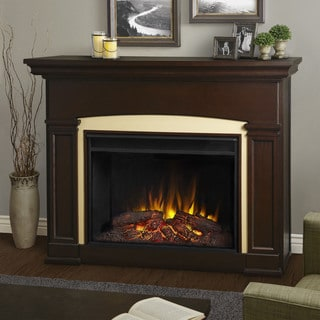 Real Flame Holbrook Grand Dark Walnut finish 58.5 in. L x 16.875 in. D x 42.875 in. H Electric Fireplace