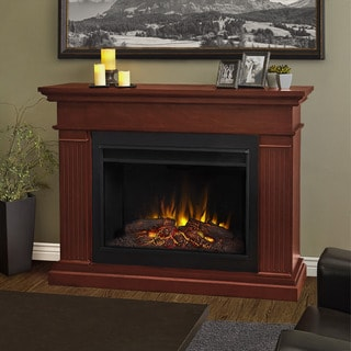 Real Flame Kennedy Dark Espresso 55.5 in. L x 15.5 in. D x 43.25 in. H Grand Electric Fireplace