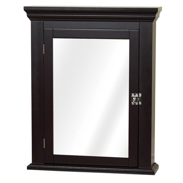 Shop espresso colonial mirrored medicine cabinet free shipping today 9669494 for Espresso bathroom medicine cabinet