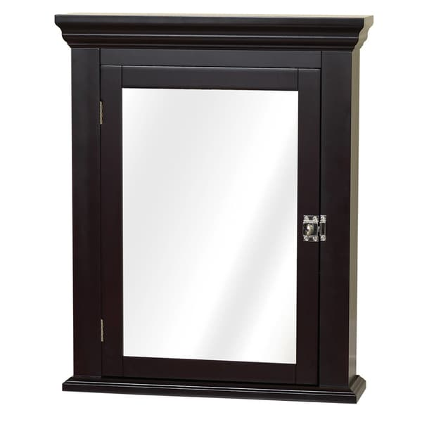Zenith Bathroom Cabinets: Shop Espresso Colonial Mirrored Medicine Cabinet
