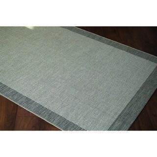 Loft Prime Border Black Rug (7'10 x 10')