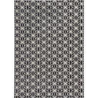 Loft Modern Geometric Star Grey Rug