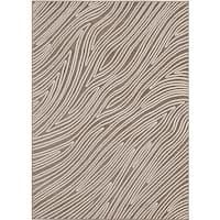 Loft Modern Bark Design Taupe Rug (5'3 x 7'4)