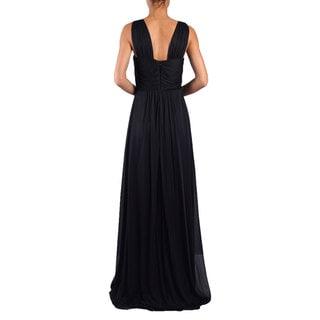 DFI Women's Embellished-waist Shirred Gown