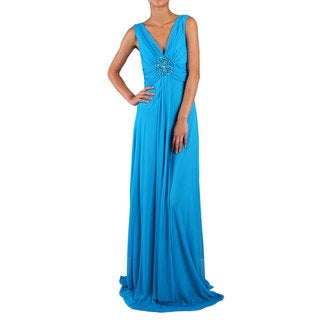 DFI Women's Embellished-waist Shirred Gown