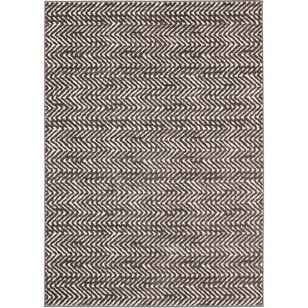 Loft modern chevron stripe grey cream polypropylene rug for 10x10 living room rugs