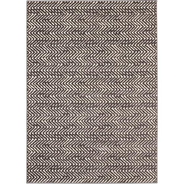Chevron Stripe Rug: Shop Loft Modern Chevron Stripe Grey And Cream