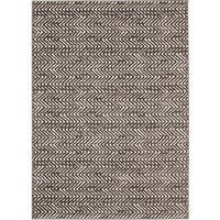 Loft Modern Chevron Stripe Grey and Cream Polypropylene Rug