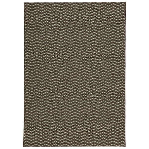 Loft Gracie Chevron Stripe Grey Indoor or Outdoor Rug 7