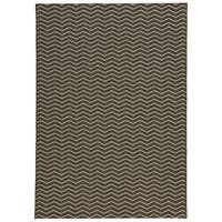 Loft Gracie Chevron Stripe Grey Indoor or Outdoor Rug (7'10 x 10') - 7'10 x 10'