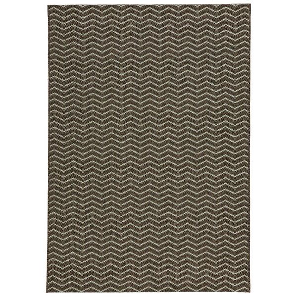 Loft Gracie Chevron Stripe Grey Indoor or Outdoor Rug (5'3 x 7'4) - Free Shipping Today ...
