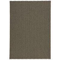 Loft Gracie Chevron Stripe Grey Indoor or Outdoor Rug (5'3 x 7'4) - 5'3 x 7'4