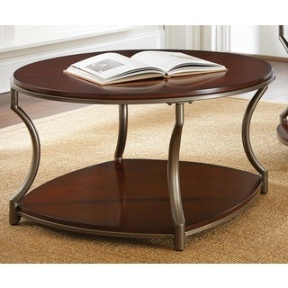 Morelia Round Wood and Metal Coffee Table by Greyson Living