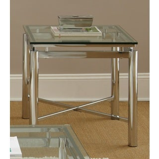 Greyson Living Natal Chrome and Glass End Table