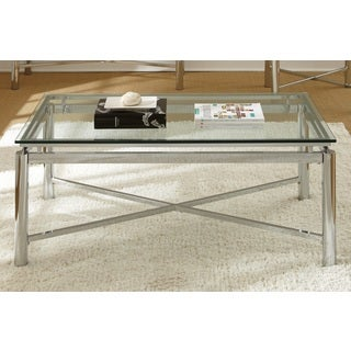 Oliver & James Jules Chrome and Glass Coffee Table