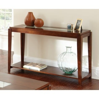 Juliana Inset Cracked Glass Sofa Table by Greyson Living