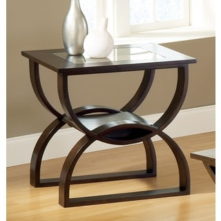Del Ray Modern Glass Insert End Table by Greyson Living