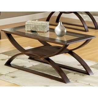 Greyson Living Del Ray Glass Insert Coffee Table